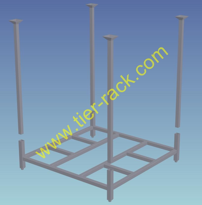 Stack rack cart